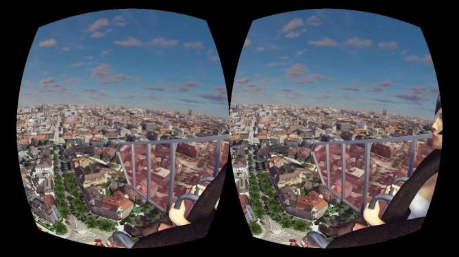 cyber space ride, oculus rift